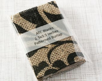 ATC Blanks ACEO Blanks Burlap Fabric 15 count Artist Trading Card Supplies ACEO Supplies Altered Art Mixed Media Scrapbooking