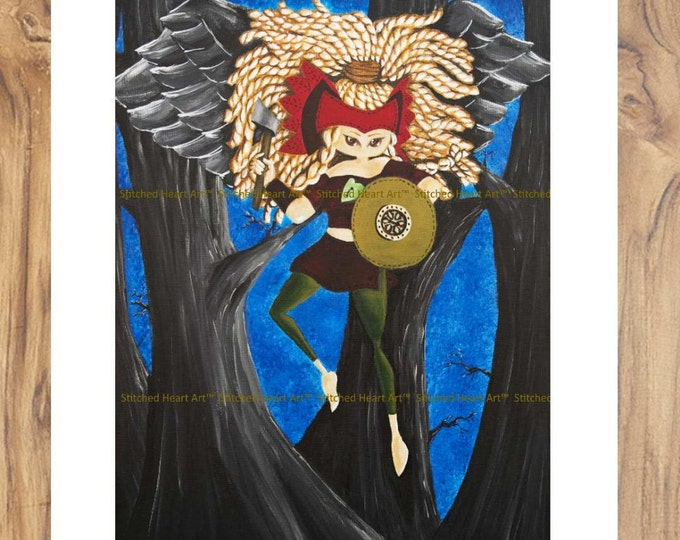 """Taking My Power Back - 11x14"""" Repro Print - Muse Valkyrie MuseArt"""