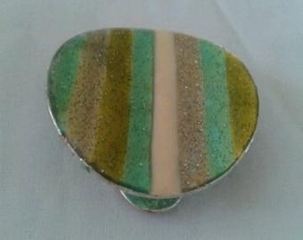 ceramic round charm