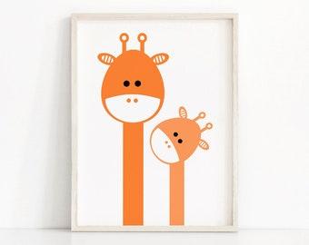 Giraffe Nursery Print, Kids Wall Art Printable, Animal Nursery Print, Kids Print, Printable Kids Gift, Nursery Art Printable, Nursery Decor