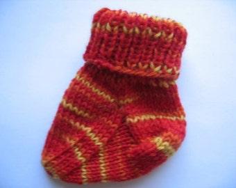 Baby Socks Knitting Pattern Using Leftover Yarn