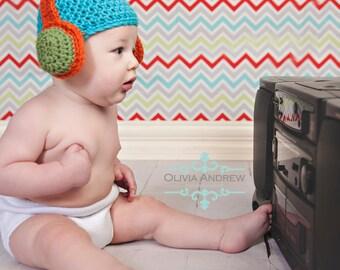 PATTERN Headphone / Earmuff Hat - Crochet