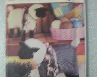 """Simplicity 7418 Small 13 1/2"""" X 17 1/2"""" and Large 16 1/2"""" X 23"""" stuffed sheep"""