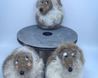 Needle Felted Hedgehogs Minitures/Collectibles