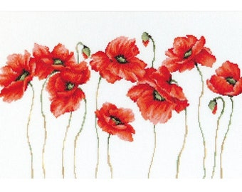 Poppies SB2223 - Cross Stitch Kit by Luca-s