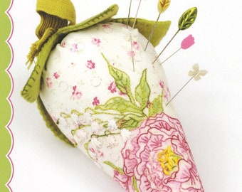 Crabapple Hill Peony Pincushion Sewing Embroidery Pattern  CAH 825 New Release