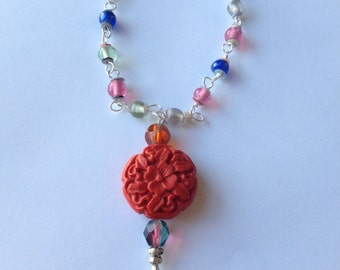 Cinnabar Colorful Beaded Necklace
