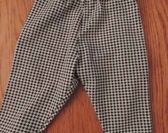 Black and White Houndstooth Pants