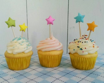 Origami étoile Cupcake Toppers