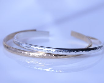 Cuff bracelet, Minimalist cuff, Sterling silver cuff bracelet, Gold filled cuff bracelet, Personalized cuff bracelet