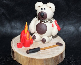 BDSM bear with candles