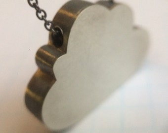 Sterling Silver Cloud Pendant and Chain