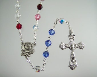 Swarovski Birthstone Rosary Great for Mom Mother Grandmother Mother's Day