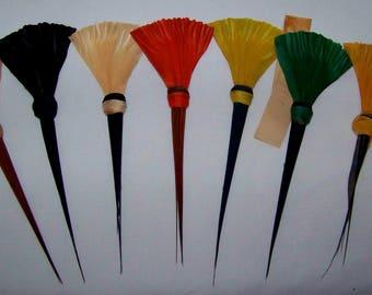 Vintage French Millinery Feather Hat Trim NOS Fancy Fan Shape  #3654