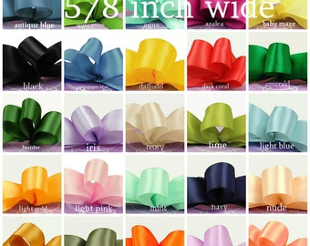 satin ribbon 5/8 inch wide - select color - price for 10 yards