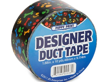 Puppy Print Duct Tape, 10 yds, 1.88 Inches wide