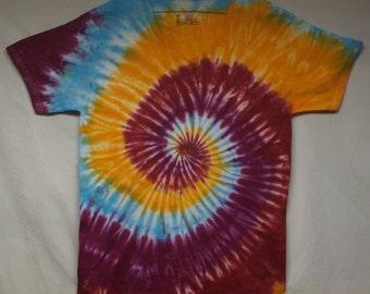 Adult M V-Neck Tie Dye Shirt