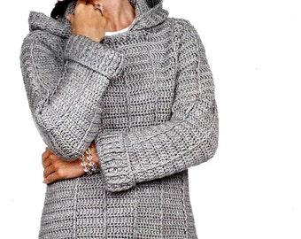 Crochet sweater pattern, crochet, pattern