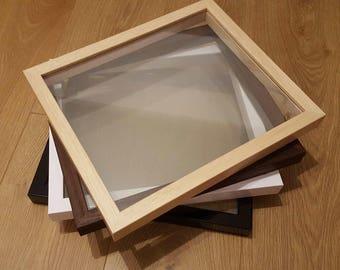 Floating Frame Only - Glass to Glass Frames - Papercut Paper Cut Frames, Vinyl Shadow Frames, Glass picture frames