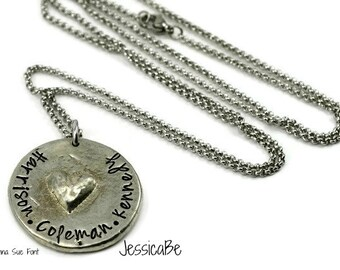 Mother's Necklace ~ Mommy Necklace ~ Personalized Necklace ~ Kid's Names ~ JessicaBe ~ Heart Necklace ~ Couples Necklace ~ Wedding Necklace