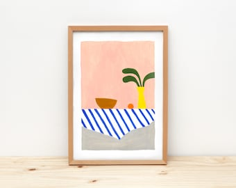 Still life - illustration by depeapa, print, poster, A4 wall art, wall decor, kitchen