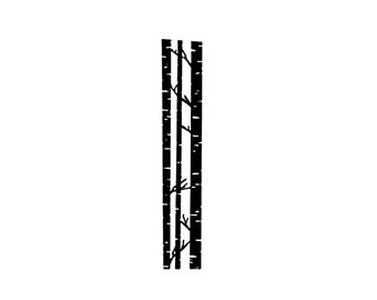 BIRCH TREE Rubber Stamp~Birch Trees~Tree Trunk Bark~White Birch~Background Stamp~Forest~Woods~Large Cling Stamp~Mountainside Crafts (53-05)