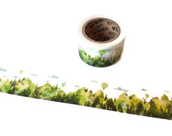 Meetape Summer Washi Tape, Forest Landscape, Nature Themed, Decorative Tape, Craft Tape, Paper Crafts, Planner Accessories, Journal Supplies