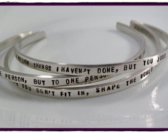 Personalized sterling silver Bracelet Hand Stamped With Your Words