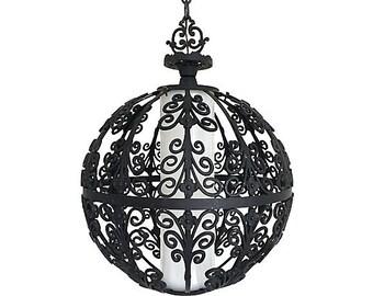 Feldman Wrought Iron Globe Pendant Light