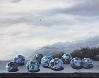 "oil on canvas ""Inspiration"", oil painting, oil painting, landscape, painting, Canvas Art, Wall Art, Modern Art, oil Art on canvas"