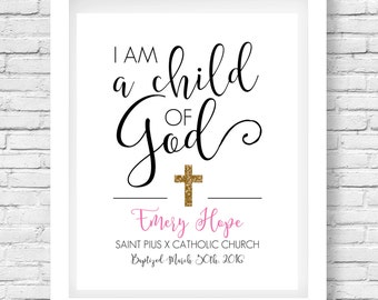Baptism Gift Printable // Confirmation gift // Scripture Quote // First Communion // Christening Gift // Scripture Print