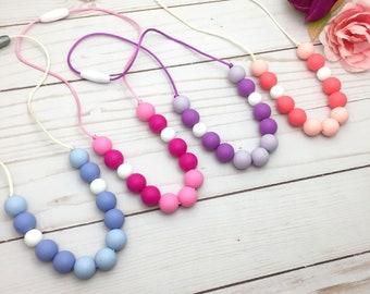 GUMMY Sensory Necklace - Toddler Teething Necklace - Fiddle Necklace - Chew Necklace for Kids - Teething Necklace - Chewlery  for Kids