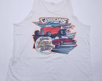 Good Guys California Rod & Custom Classic Association Vintage White Tank Shirt 1993