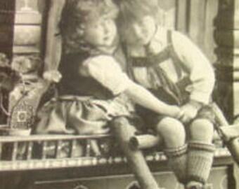 Lot of 6 Vintage RPPC 2 Cute Children