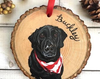 Peint à la main animaux ornement - ornement animaux personnalisés - ornement pour animaux de compagnie - Portrait d'animal ornement - décoration de chien - Pet Memorial cadeau - cadeaux pour animaux de compagnie