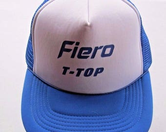 Vintage Pontiac Fiero T Top Baseball Cap Snapaback Trucker Mesh