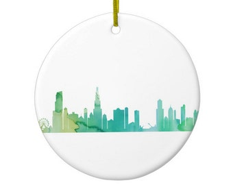 Chicago Skyline Art Ornament