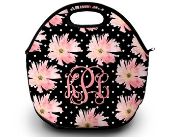 Lunch Bag, Monogrammed Lunch Box, Personalized Lunch Bag, Monogram Lunch Tote, Lunch Bag for Women  