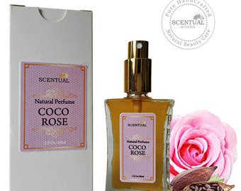Chocolate Rose Eau De Parfum, Natural Chocolate Rose Perfume, Vegan Perfume, Gift Idea