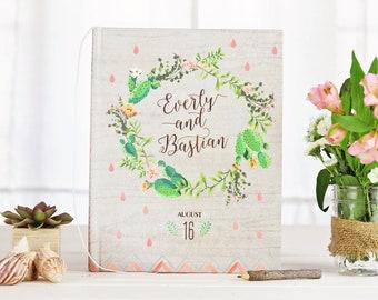 Desert Wedding Guest Book, Wedding Guestbook, Cactus Wedding, Photo Book, Photo Guest Book, Guest Sign In, Wedding Notebook, Wedding Book
