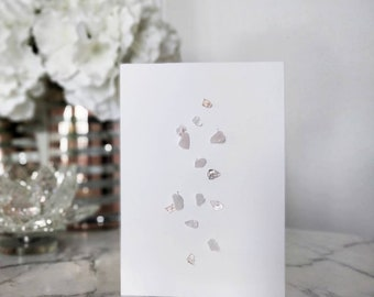 Rose Quartz & Glass Bead Greeting Card