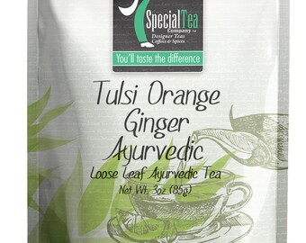 3 oz. Tulsi Orange Ginger Ayurvedic Herbal Tea with Free Tea Infuser