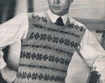 Vintage Patons Knitting Book No. 245 Patterns for Men