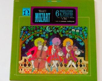 Mozart - Six Preludes & Fugues for String Trio - Trio A Cordes Francais - Nonesuch Records - Vintage Vinyl LP Classical Record Album