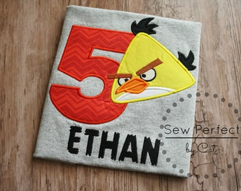 mad red bird birthday shirt, mad yellow bird shirt, yellow bird shirt, red bird shirt, personalized shirt for angry bird party, mad birds