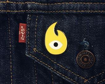 Eye Enamel Pin - Eye Lapel Pin - Yellow Eye Enamel Pin - All Seeing Eye Pin - Enamel Pins - Pins for backpacks - Pins for jackets