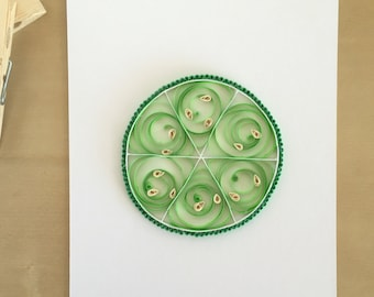 Quilling Paper Green Lime Home Decor, Lime Slice Art, Bright Kids Decor, Summer Fruit Art, Bar Decor, Margarita Art, Mojito Art, Paper Fruit