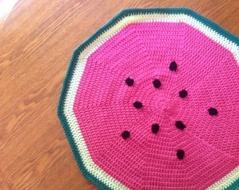 Sweet Baby Watermelon Crochet Blanket Play Mat