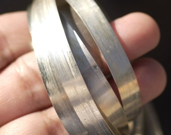 Nickel Silver Bezel Wire - Handmade - 6.5mm wide - 28 Gauge - 3 feet length