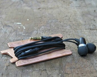 Industrial Copper ear bud holder vintage trendy modern design iphone ear buds